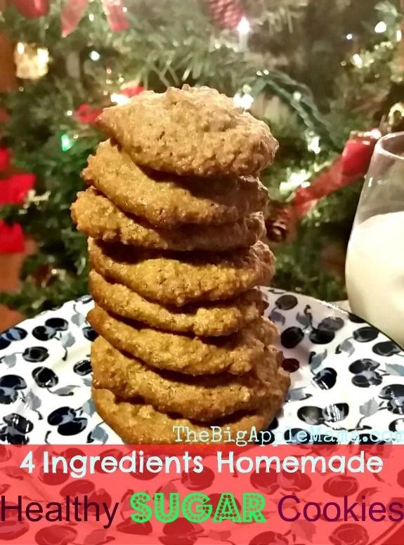 healthy sugar cookies homemade 4 ingredients