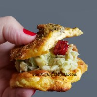 Healthy Chicken Salad that is not very Mayonnaisey Best served on a #CloudBread of course!