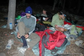 Camp above Quail Meadows, John Muir Wilderness.