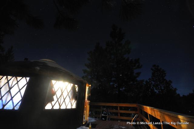 Skyline yurt, Boise National Forest, Idaho.