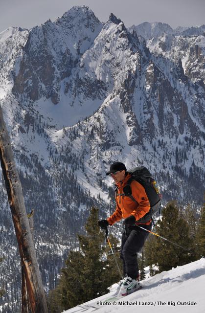 Skiing The Triangle on Mt. Heyburn, Sawtooth Mountains, Idaho.