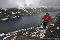 Besseggen Ridge above Bessvatnet (lake), Jotunheimen