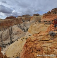 """Great overlook,"" second day, Beehive Traverse, Capitol Reef National Park."