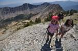 Alex and Adele hiking Norton Peak, Smoky Mountains, Idaho.
