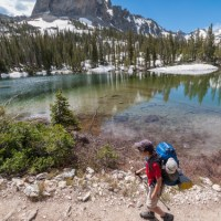 My son, Nate, backpacking Trail 95 below El Capitan, in Idaho's Sawtooth Wilderness.