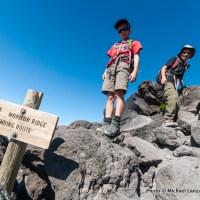 Nate, Marco hiking Monitor Ridge.
