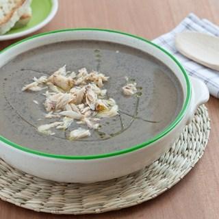 ricetta minestra con ceci neri