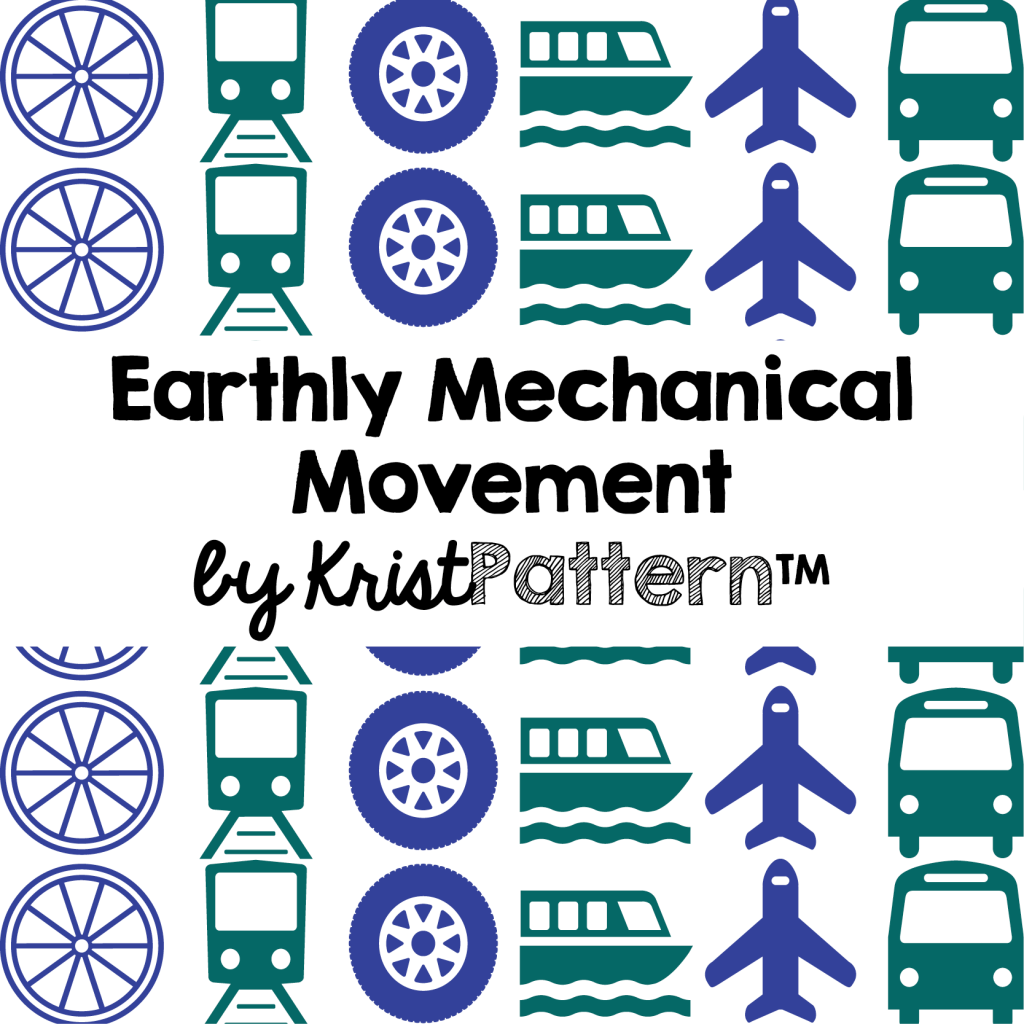 Earthly Mechanical Movement by KristPattern available on Spoonflower.com