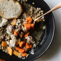 Crockpot Lentil Soup with Italian Sausage