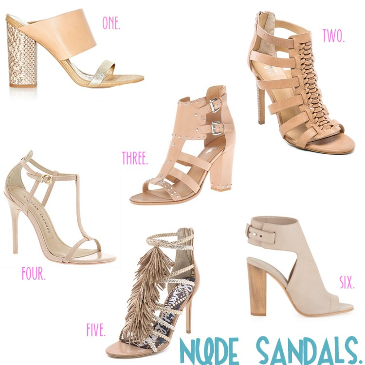 Haute Shopping. Nude Sandals.