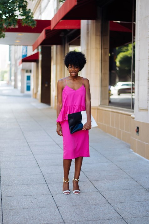 fashion week, new york, blogger downtown dallas, downtown, NYFW, street style, pink dress, giuseppe zanotti heels