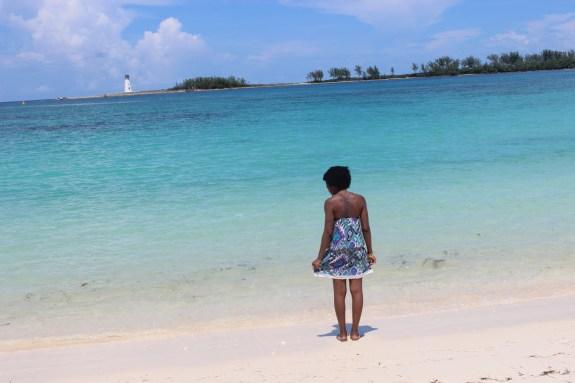 beach, blue water, clear water, blogger beach, blue, travel blogger, nassau, bahamas