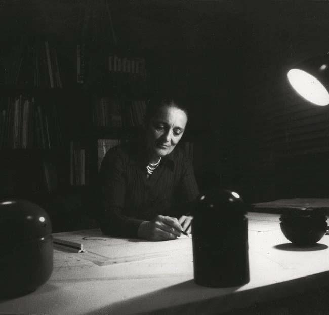 Anna Castelli Ferrieri working in her Milan studio, 1974. Photo by Valerio Castelli. Courtesy Kartell