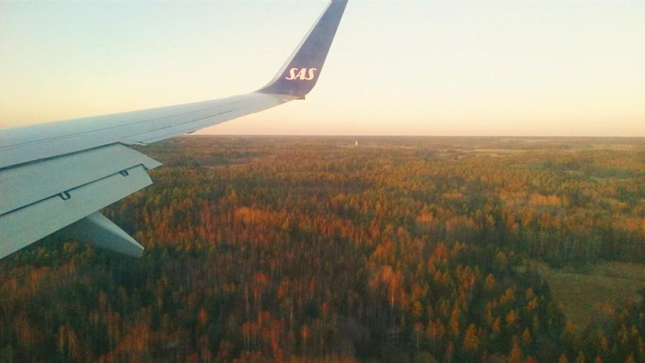 Landing in Stockholm, Sweden