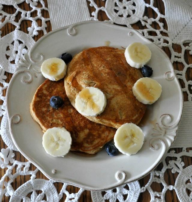 WIAW Fluffy Blueberry Pancakes