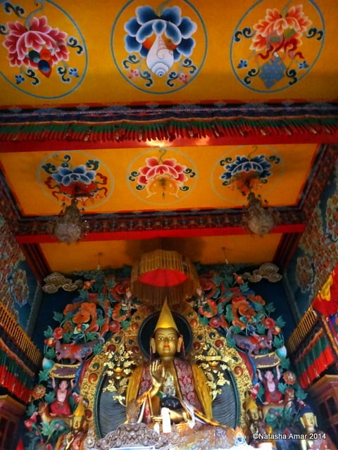 Inside the Prayer Hall- A Rainy Hike to Kopan Monastery