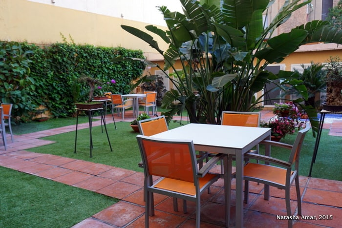 Terrace garden Aparthotel Silver Barcelona