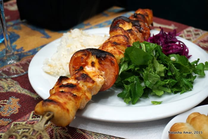 Chicken sis kebap at Ejder Restaurant, Selcuk