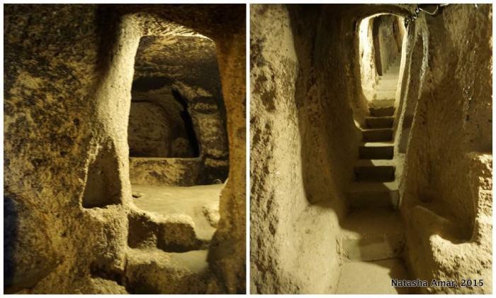 underground city of Kaymakli in Cappadocia