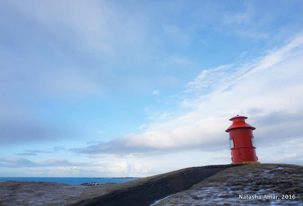 Sugandisey Lighthouse Snaefellsnes Peninsula