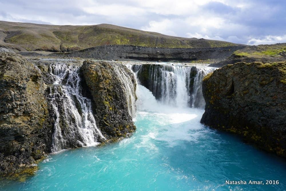 Iceland's Highlands Landmannalaugar Day Tour- Sigöldufoss