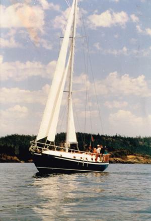 Kathy Garthwaite sailing