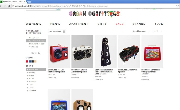 Urban Outfitters Urban Fashion Suitcase BoomBox Suitcase Speaker BoomBox BoomCase Jamie Oliver UK London Chef Cook