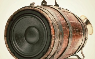 Wooden BoomBox Barrel BoomCase Vintage Whiskey bluetooth speaker portable stereo
