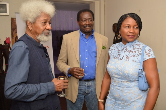 Dr. Lai Ogunbiyi (middle) with Prof. Wole Soyinka and his wife