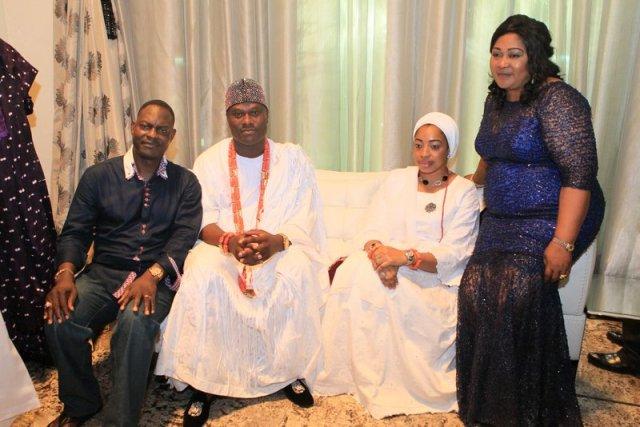 Dr. & Mrs. Taiwo Afolabi with Imperial Majesty Oba Enitan Ogunwusi & Olori (2)