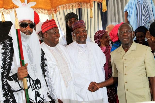 HRM Alh. Sanusi Lamido, H.E. Gov. Abdullahi Umar Ganduje ,   Alh. Aliko Dangote & Gov. Adams Oshiomole