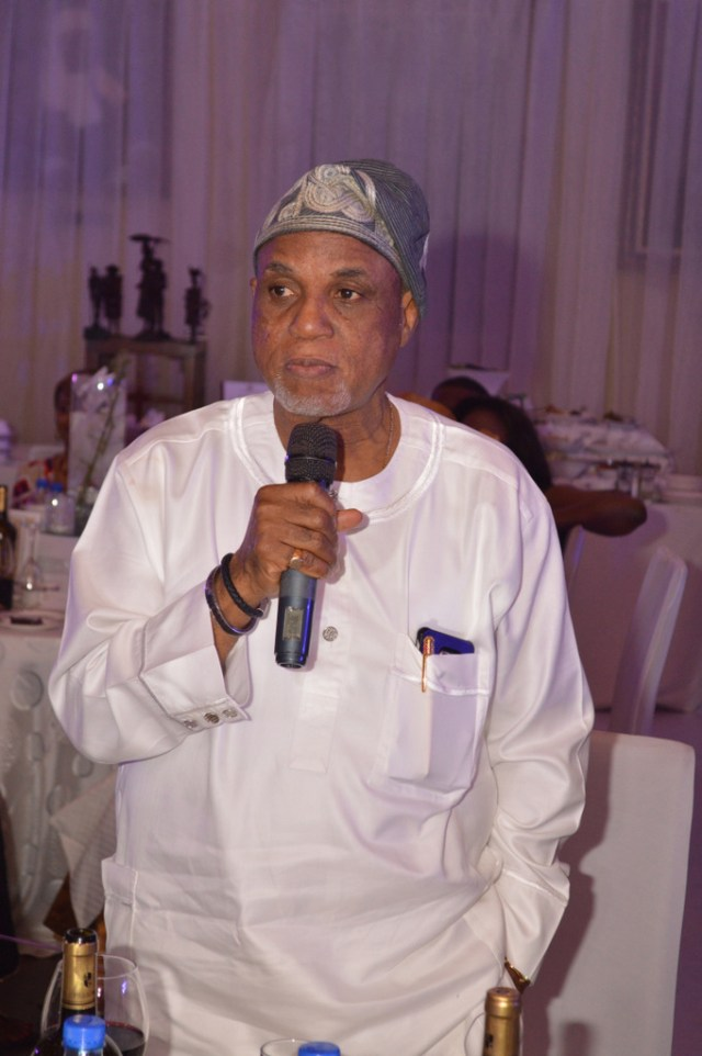 Mr. Biodun Shobanjo during his speach