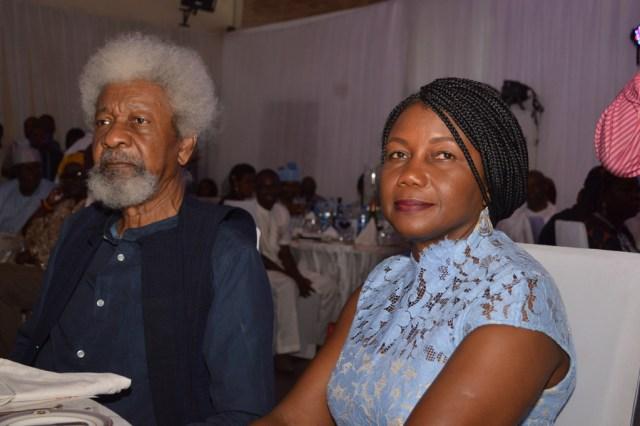 Prof. Wole Soyinka and his wife Mrs. Soyinka