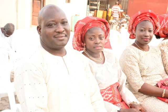 Hon. Deji Owolabi & wife with his sister, Deola Owolabi
