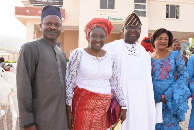 Mr& Mrs Tunde Arowolo with Mr. & Mrs. Abegunde