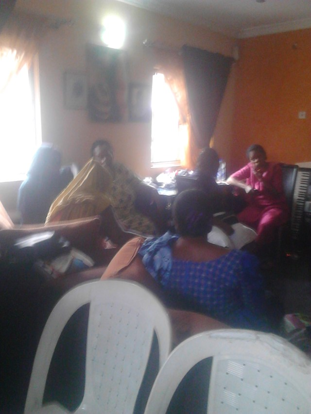 OJB's first wife, Mama J, being consoled by well wishers