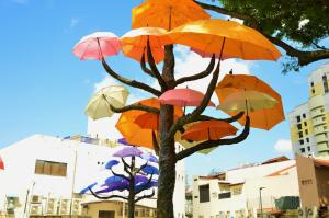 Pop Up Umbrella Art