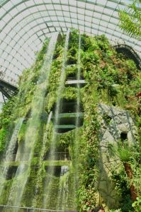 The world's largest indoor waterfall