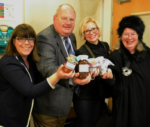 Eric Pickles meets The Brentwood Belles WI during an Oxfam GROW meeting