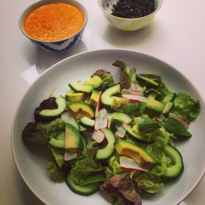 Oak Leaf, Radish & Avocado salad