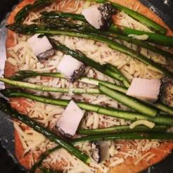 Asparagus & Monte Ebrero Pizza