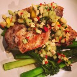 Pork with Cashew & Mango Salsa