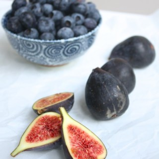 Fig blueberry compote