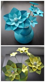 collage in Paper flower centerpieces  Downloadable DIY Tutorial from Ashley Hairston and diy projects