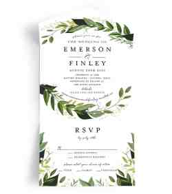 Small Of All In One Wedding Invitations