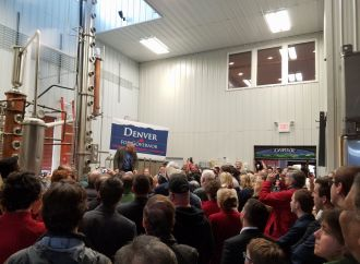 Denver Riggleman Packs Distillery with Enthusiastic Supporters