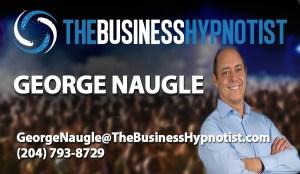 Business Hypnotist Card Template - George Naugle