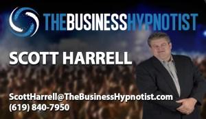 Business Hypnotist Card Template - Scott Harrell