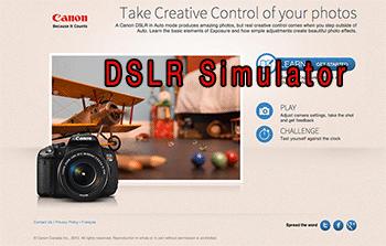 Canon DSLR Simulator