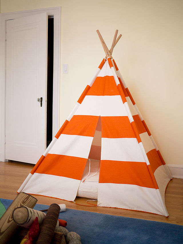teepee - toddler boy room